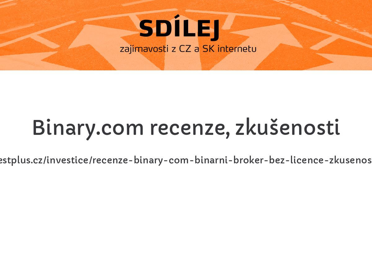 Binary.com recenze, zkušenosti