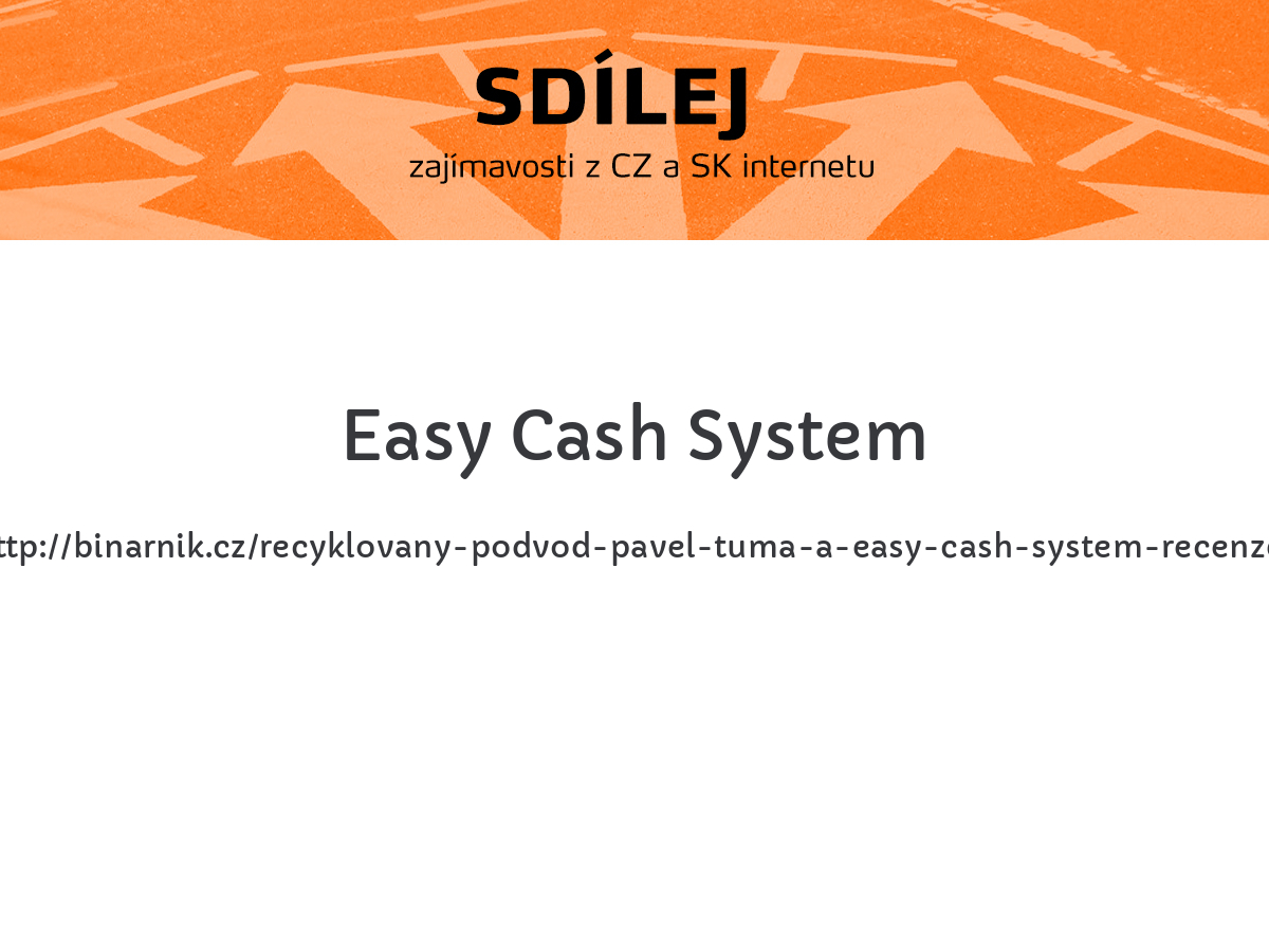 Easy Cash System