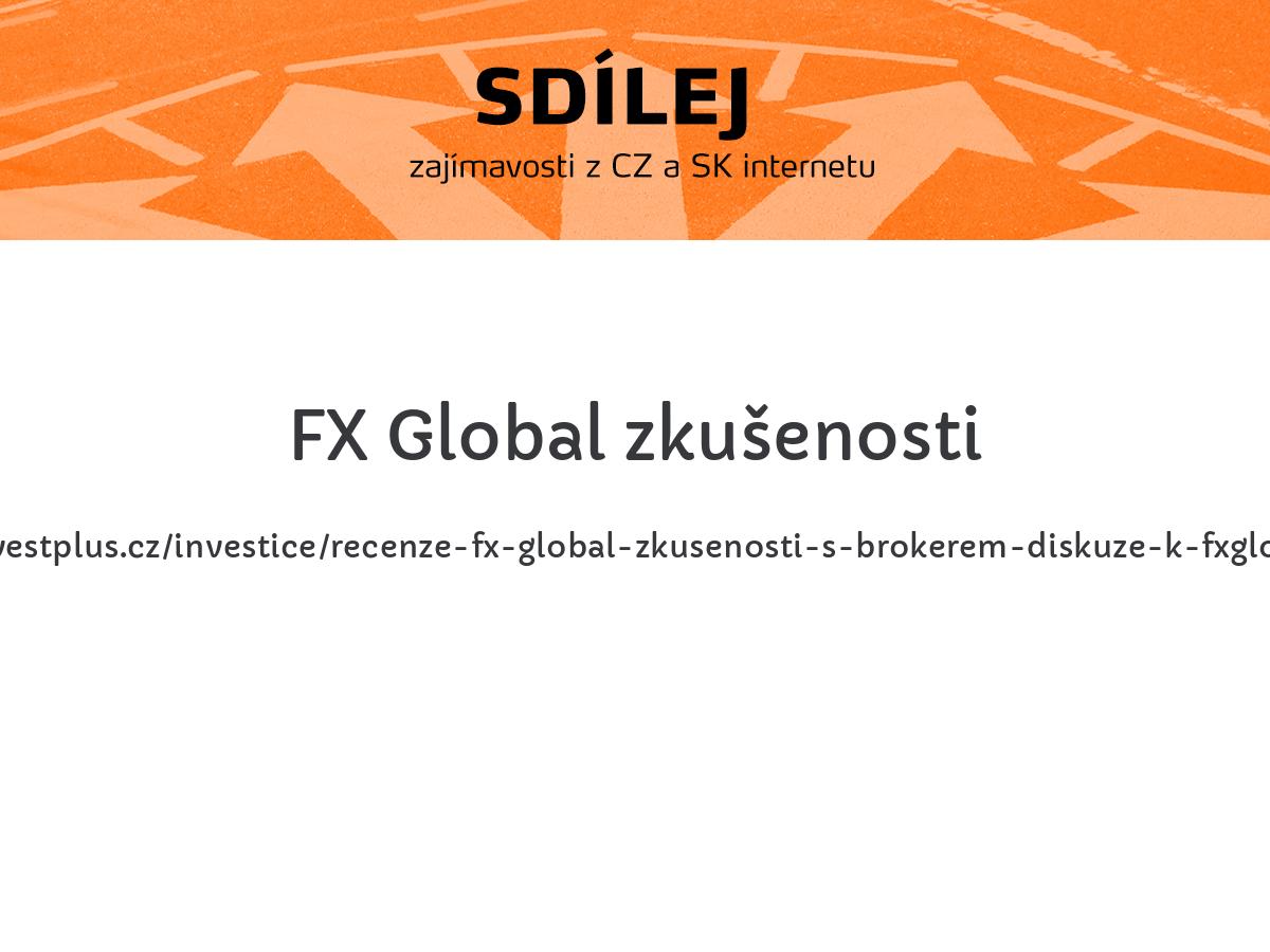 FX Global zkušenosti
