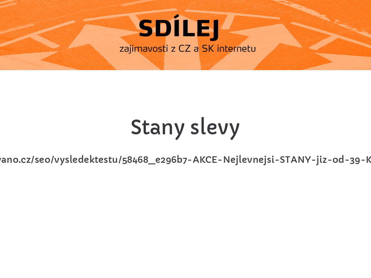 Stany slevy