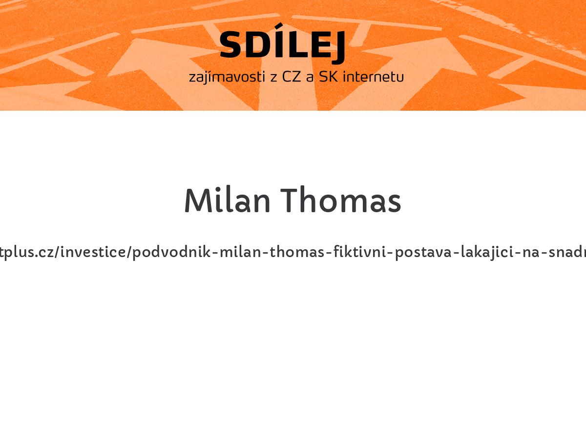 Milan Thomas