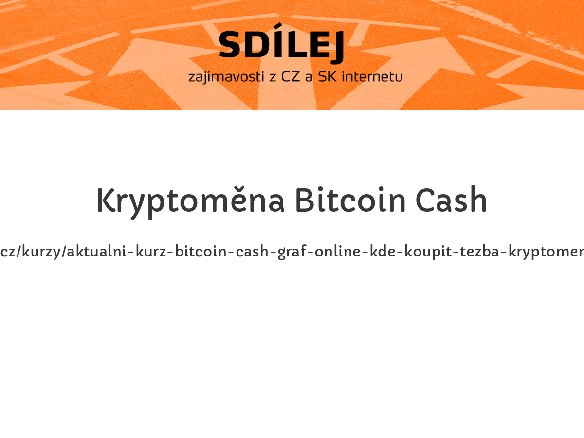 Kryptoměna Bitcoin Cash