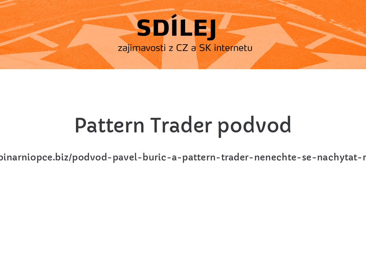 Pattern Trader podvod