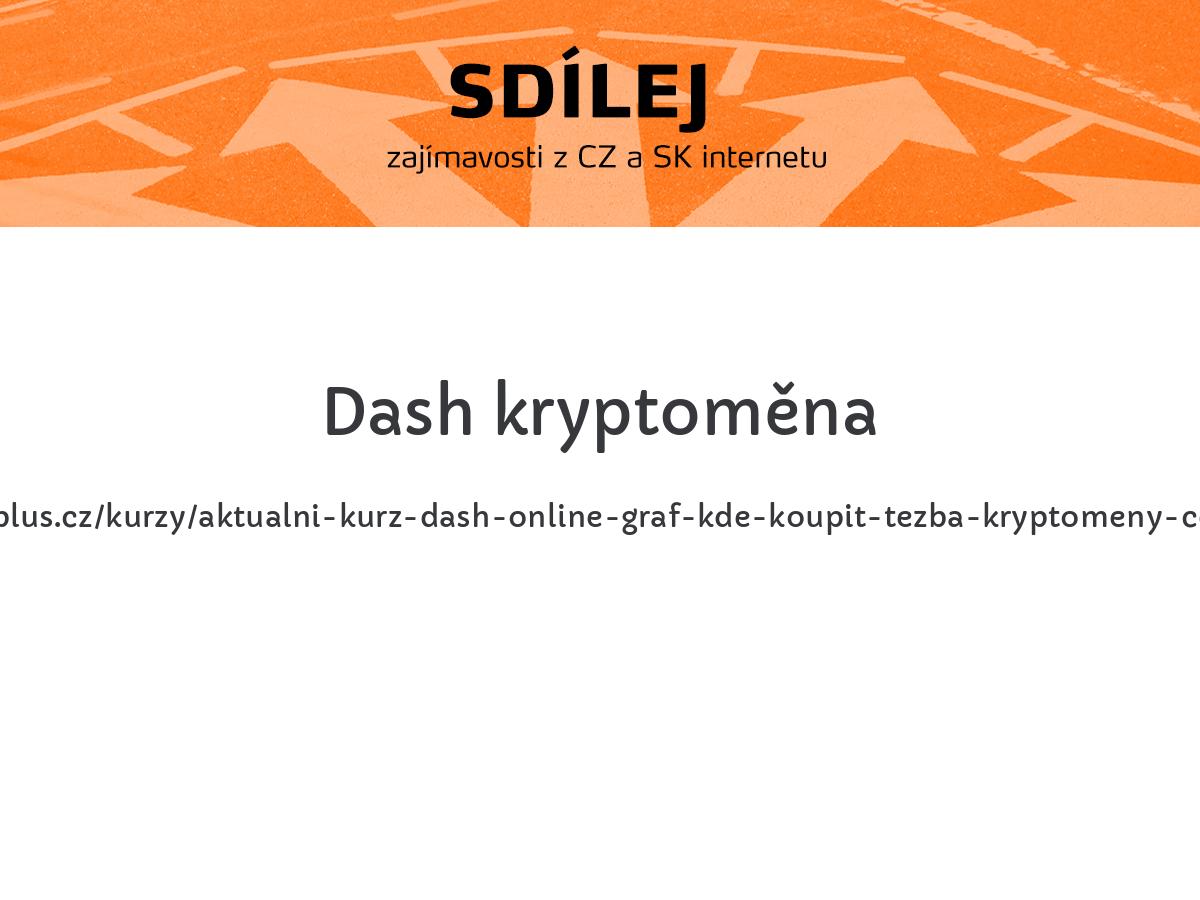 Dash kryptoměna