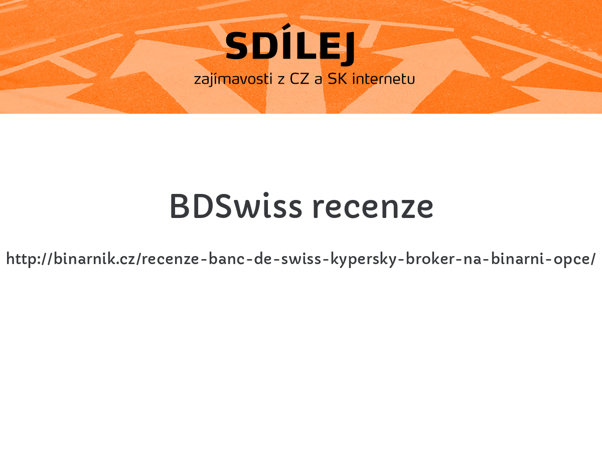 BDSwiss recenze