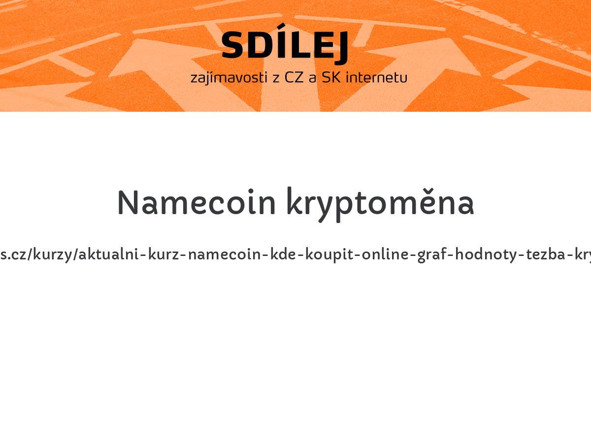 Namecoin kryptoměna